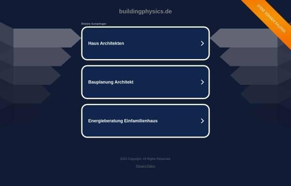 Vorschau von www.buildingphysics.de, Buildingphysics