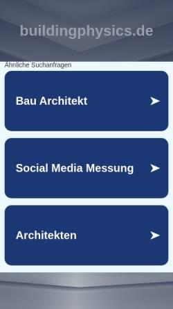 Vorschau der mobilen Webseite www.buildingphysics.de, Buildingphysics