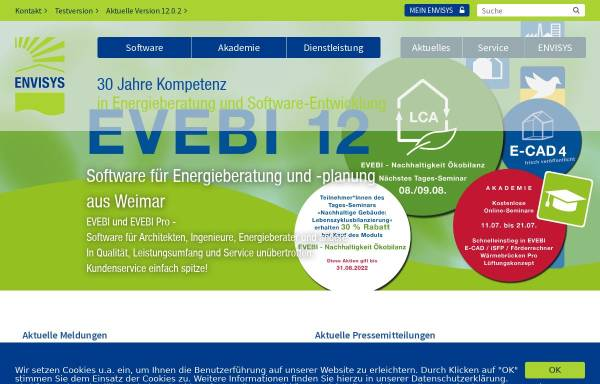 Vorschau von www.envisys.de, Envisys GmbH & Co. KG