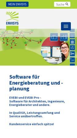 Vorschau der mobilen Webseite www.envisys.de, Envisys GmbH & Co. KG