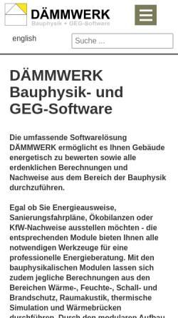Vorschau der mobilen Webseite www.bauphysik-software.de, Kern Ingenieurkonzepte