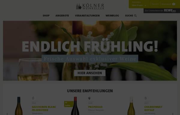 Vorschau von www.koelner-weinkeller.de, Kölner Weinkeller, REWE Group