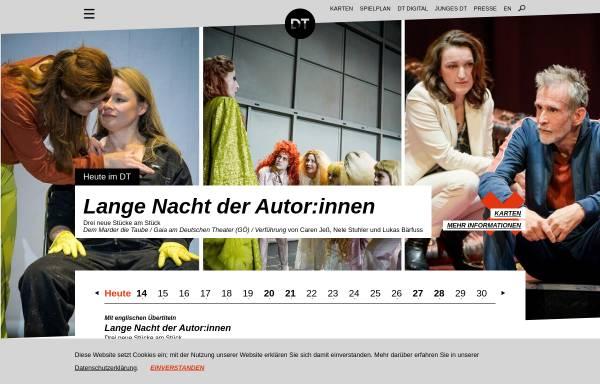 Vorschau von www.deutschestheater.de, Deutsches Theater