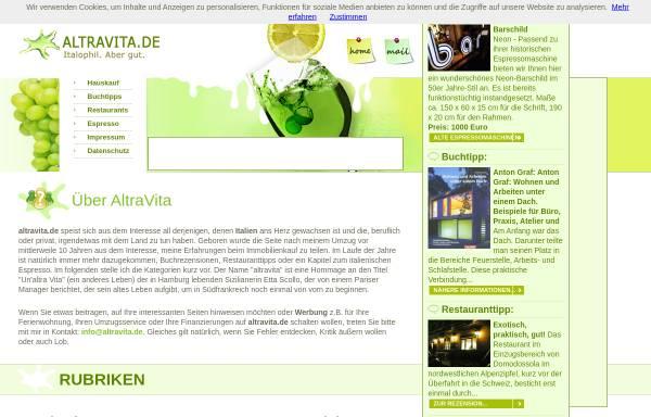 Vorschau von www.altravita.de, Altravita