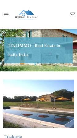 Vorschau der mobilen Webseite www.italimmo.com, Andreas Fritsch Immobilien GbR
