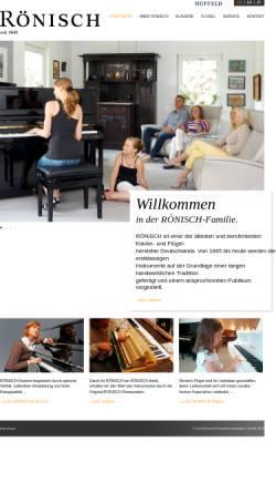 Vorschau der mobilen Webseite www.roenisch-pianos.de, Leipziger Pianofortefabrik