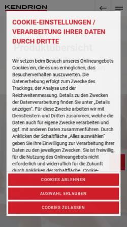 Vorschau der mobilen Webseite www.magneta.de, Magneta GmbH & Co KG