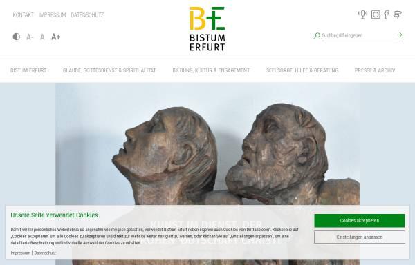 Vorschau von www.bistum-erfurt.de, Katholische Kirche in Thüringen - Bistum Erfurt