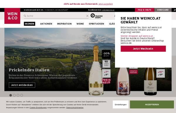 Vorschau von www.weinco.at, Wein & Co Handelsges.m.b.H.
