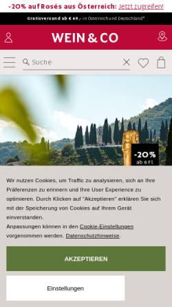 Vorschau der mobilen Webseite www.weinco.at, Wein & Co Handelsges.m.b.H.