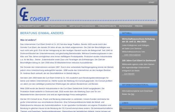 Vorschau von www.ce-consult.com, CE-Consult by Curt Ebert GmbH & Co. KG