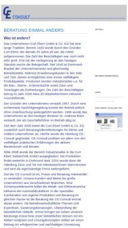 Vorschau der mobilen Webseite www.ce-consult.com, CE-Consult by Curt Ebert GmbH & Co. KG