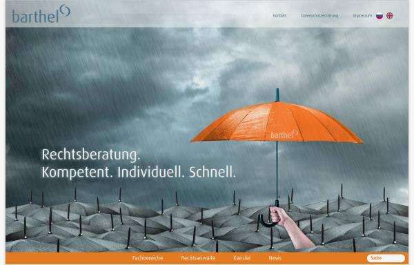 Vorschau von www.carlbarthel.de, Barthel, Carl Alexander