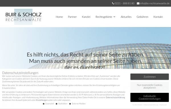 Vorschau von www.bs-rechtsanwaelte.de, Buir & Scholz