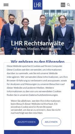 Vorschau der mobilen Webseite www.lampmannbehn.de, Lampmann, Behn und Rosenbaum