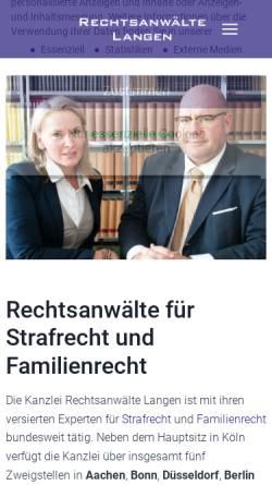 Vorschau der mobilen Webseite www.rechtsanwaelte-langen.de, Langen, Rechtsanwälte