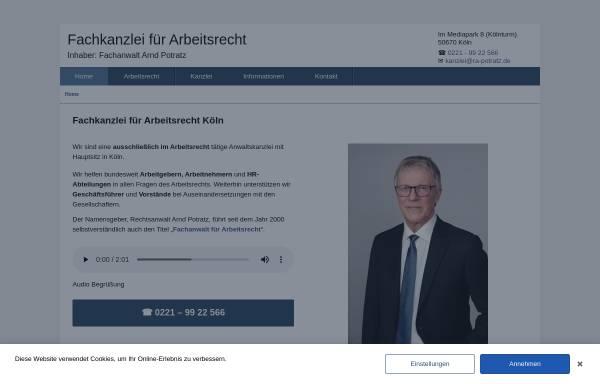 Vorschau von www.ra-potratz.de, Arnd Potratz