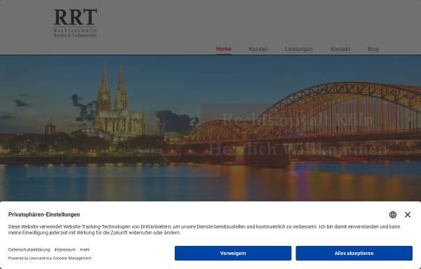 Vorschau von www.rrt-koeln.de, RRT Recker, Reininghaus & Tachmatzidis