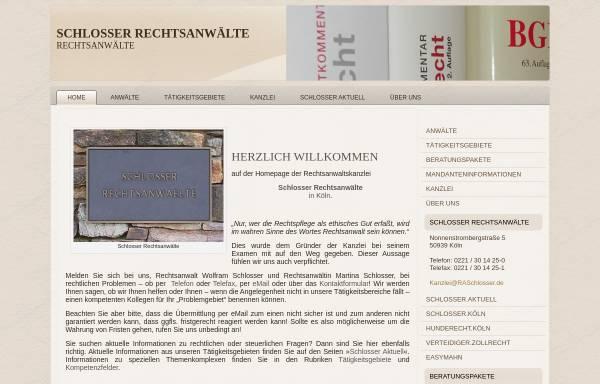 Vorschau von www.raschlosser.de, Schlosser Rechtsanwälte