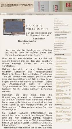 Vorschau der mobilen Webseite www.raschlosser.de, Schlosser Rechtsanwälte