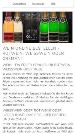 Vorschau der mobilen Webseite www.wein-wiessner.de, Wein-Wiessner GmbH