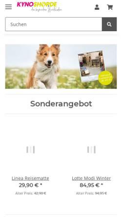 Vorschau der mobilen Webseite www.kynoshop.de, Kynoshop
