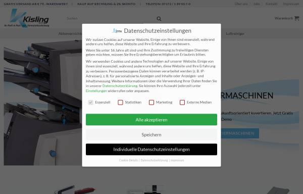 Vorschau von www.kisling-gmbh.com, Kisling GmbH