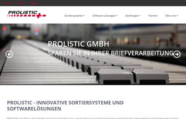 Vorschau von www.prolistic.ch, Prolistic GmbH