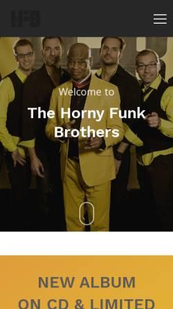 Vorschau der mobilen Webseite www.hfb.at, The Horny Funk Brothers