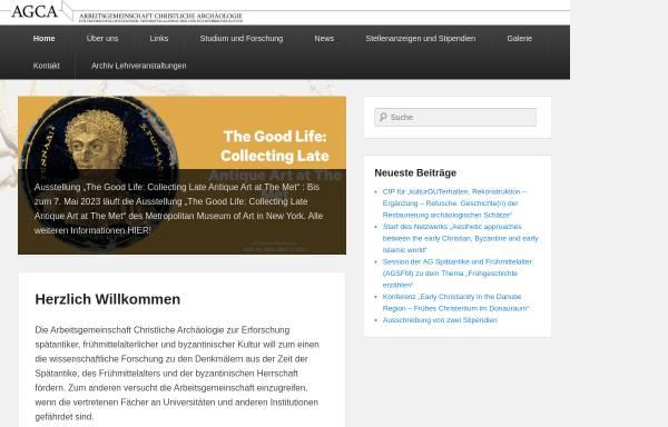 Vorschau von www.agca.de, Arbeitsgemeinschaft Christliche Archäologie
