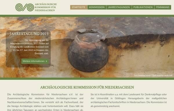 Vorschau von www.ak-niedersachsen.de, Archäologische Kommission für Niedersachsen e.V.