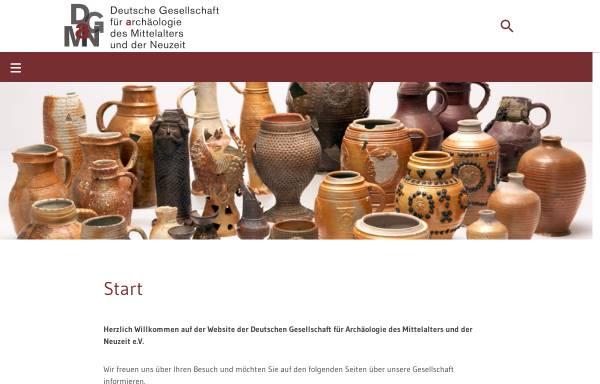 Vorschau von www.dgamn.de, Deutsche Gesellschaft für Archäologie des Mittelalters und der Neuzeit e.V.