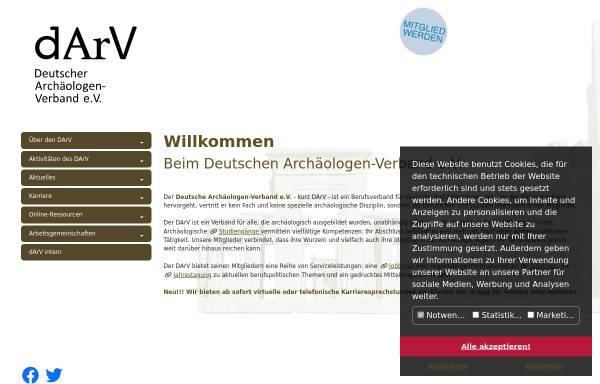 Vorschau von www.darv.de, Deutscher Archäologen-Verband e.V.