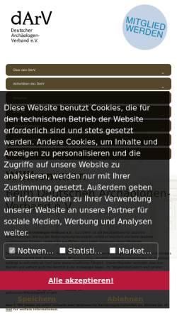 Vorschau der mobilen Webseite www.darv.de, Deutscher Archäologen-Verband e.V.