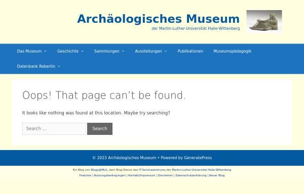 Vorschau von robertin.altertum.uni-halle.de, Institut für Neue Medien in Archäologie und Kunst e.V.