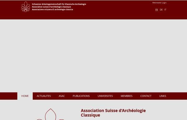Vorschau von www.saka-asac.ch, Schweizerische Arbeitsgemeinschaft für Klassische Archäologie