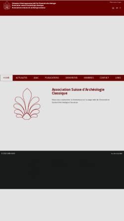 Vorschau der mobilen Webseite www.saka-asac.ch, Schweizerische Arbeitsgemeinschaft für Klassische Archäologie