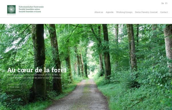 Vorschau von www.forest.ch, Schweizerischer Forstverein SFV