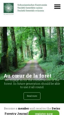 Vorschau der mobilen Webseite www.forest.ch, Schweizerischer Forstverein SFV