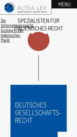 Vorschau der mobilen Webseite www.vonderseipen.de, von der Seipen, Steinberg, Franz, Köln, Dresden, Düsseldorf, Hamburg und Mailand