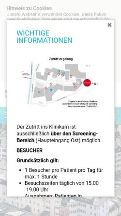Vorschau der mobilen Webseite www.kh-schwarzach.at, Kardinal Schwarzenberg'sches Krankenhaus Schwarzach