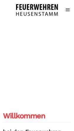 Vorschau der mobilen Webseite www.feuerwehr-rembruecken.de, Freiwillige Feuerwehr Rembrücken