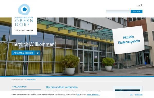 Vorschau von www.krankenhaus-oberndorf.at, Krankenhaus-Oberndorf
