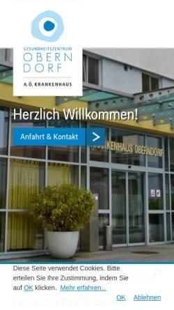 Vorschau der mobilen Webseite www.krankenhaus-oberndorf.at, Krankenhaus-Oberndorf