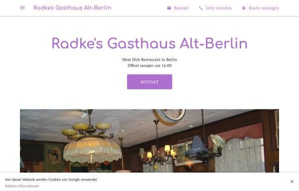 Vorschau von radkes-gasthaus-alt-berlin.business.site, Radke's Gasthaus Alt-Berlin