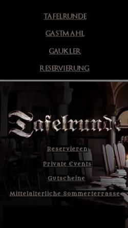 Vorschau der mobilen Webseite www.tafelrunde-berlin.de, Tafelrunde