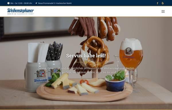 Vorschau von www.weihenstephaner-berlin.de, Weihenstephaner Berlin