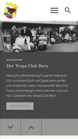 Vorschau der mobilen Webseite www.vcb.ch, Vespa Club Bern