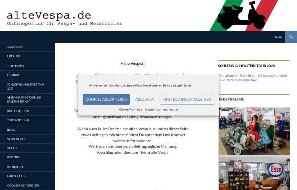 Vorschau von www.altevespa.de, Vespa Veteranen-Freunde