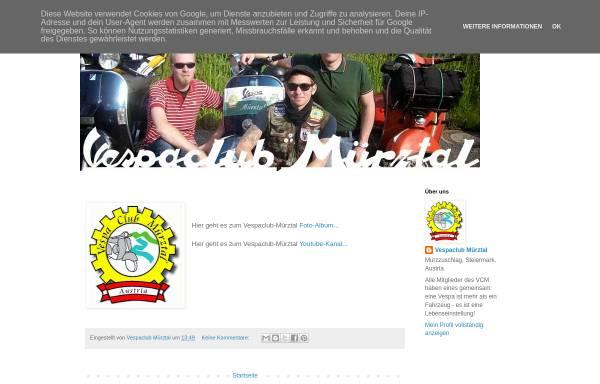 Vorschau von vcmuerztal.blogspot.co.at, Vespa-Club Mürztal